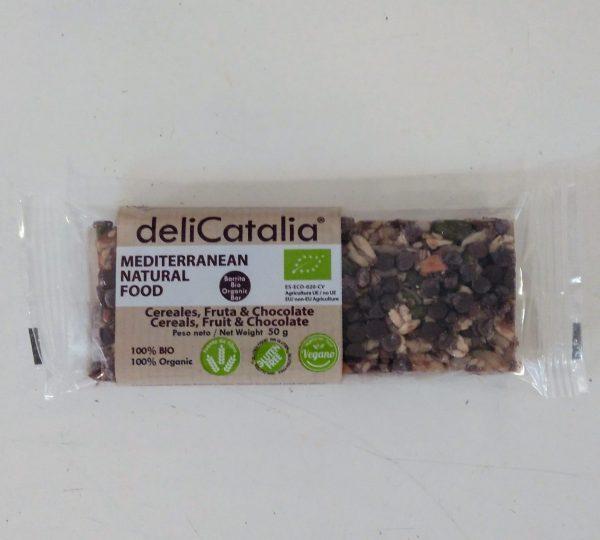 Barrita Cereales, fruta y chocolate 50 gramos