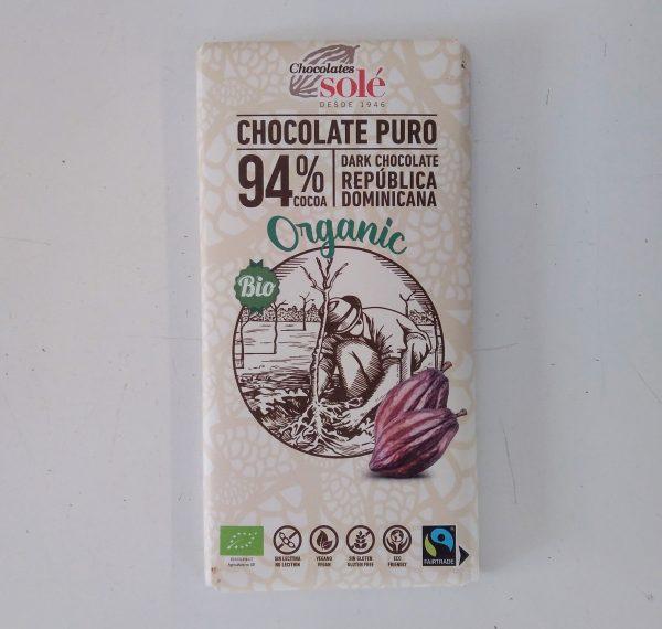 Tableta Chocolate negro al 94%