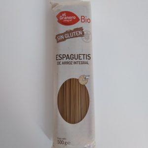 Espaguetis de arroz integral sin gluten