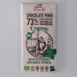 Tableta Chocolate puro al 73% y Menta Piperita
