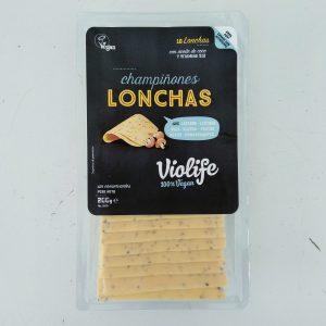 Lonchas sabor queso con champiñon